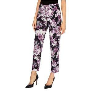 NWOT Nine West The Skinny Purple Floral Pants
